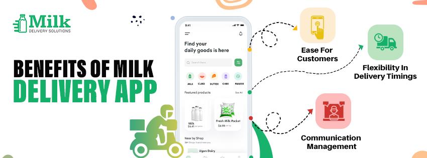 Benefits of milk delivery app